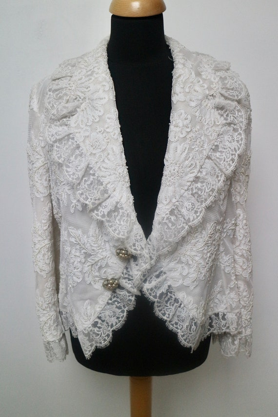 Dior pearl embroidered jacket