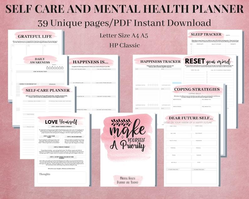 Self Care Journal Mental Health Worksheets Designed to ...