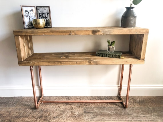 Rustic Style Console Table Industrial Side - Industrial Pipe Sofa Table
