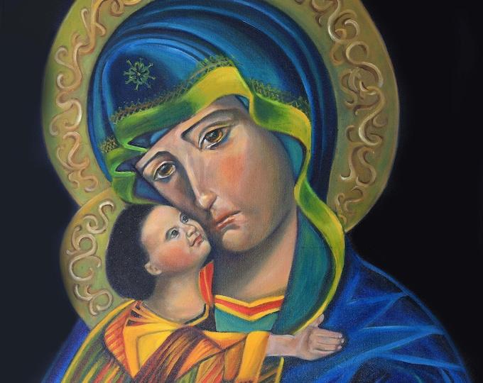 Religious Icon,Giclee print, Our Lady print