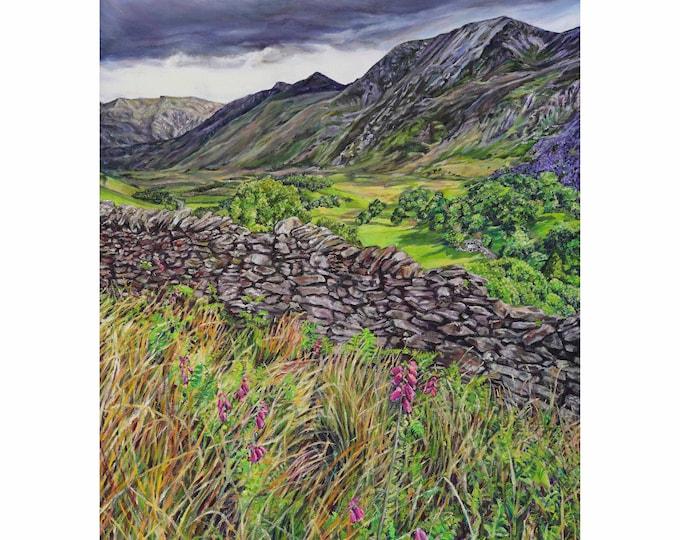 Fine Art Greetings Card, Snowdonia card