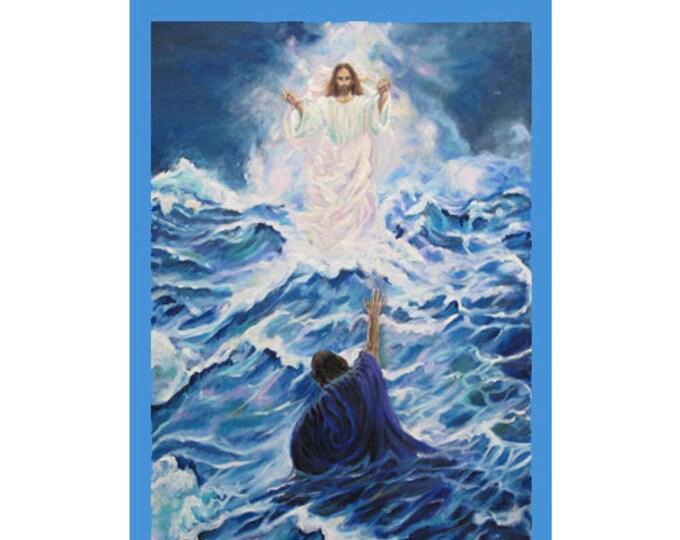Religious Greetings Card, Jesus card, St Peter card, faith card