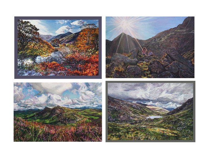 Fine Art Greetings cards, North Wales landscapes, set of 4