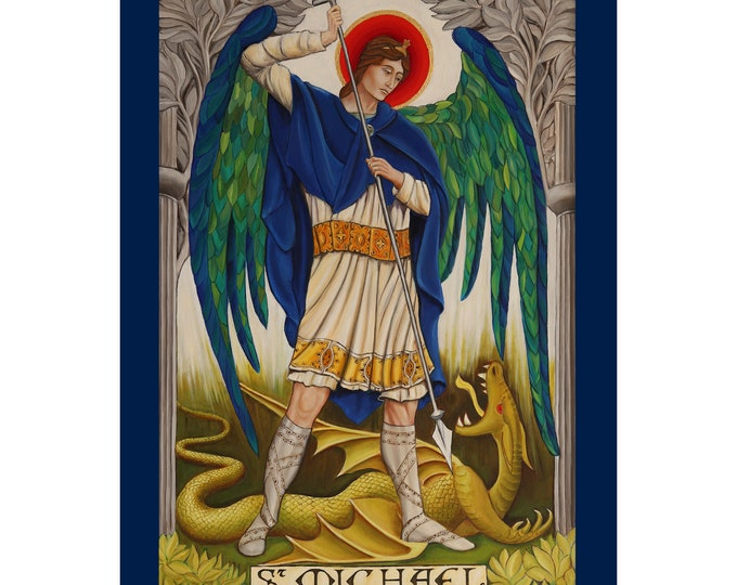 Religious Greetings Card, St Michael card