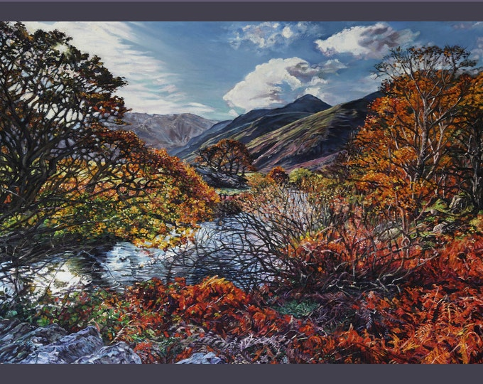 Fine Art Greetings card, North Wales landscape card
