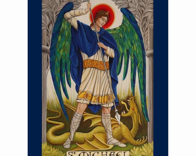 Religious print, St Michael print, giclee print