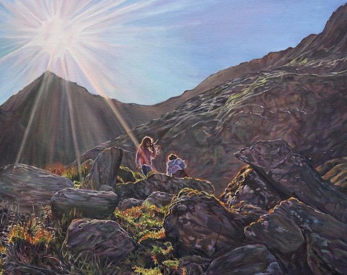 Framed Original Snowdonia Oil Painting