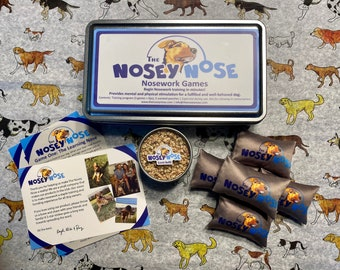 The Nosey Nose: Nosework Supplies and Training kit for dogs; Scent Work kit