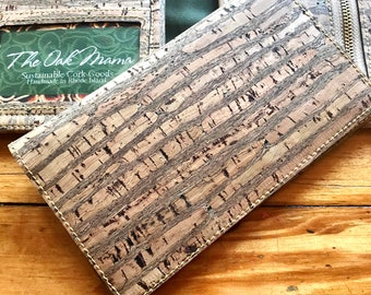 BLACKGOLD Cork Checkbook Cover