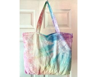 Tie Dye Tote Bag with Tassel