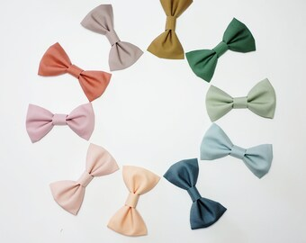 Bow tie Baby Bow tie,BOHO Rainbow,Toddler Bow ties Child,Easter Bow tie,Wedding outfit,Ready to Ship Clip On Baby Bow Ties,Solid Colors