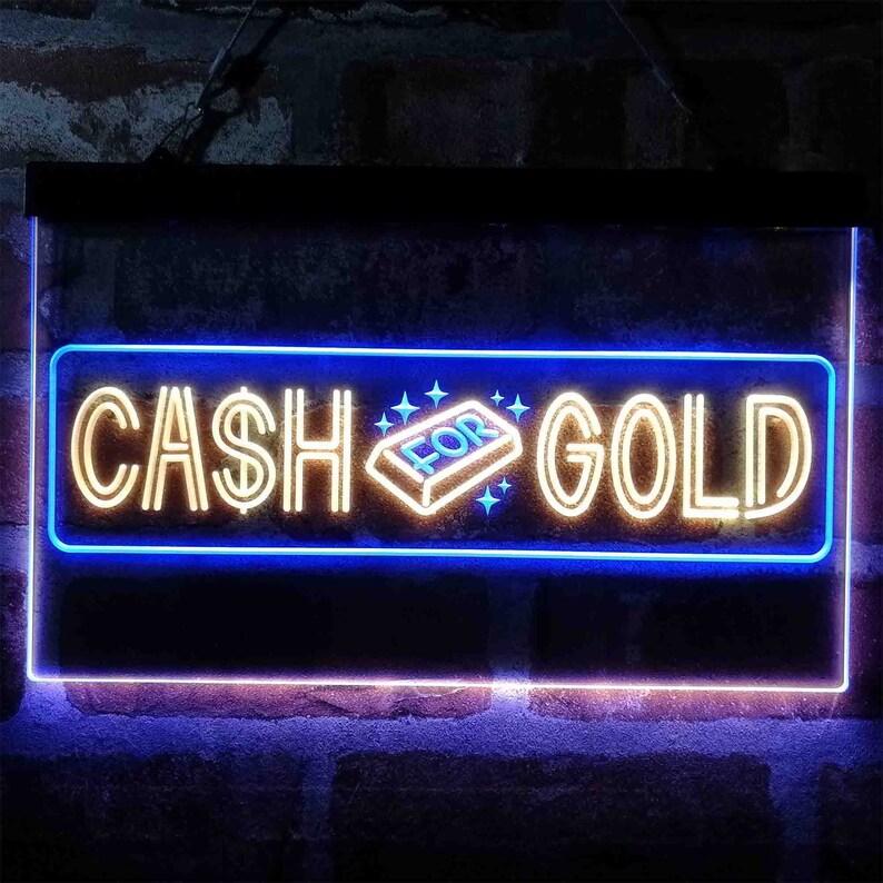 Cash For Gold We Buy Shop Dual Color LED Neon Sign st6-i4038