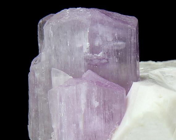 "Spodumene /(var: ""Kunzite"")/ with Tourmaline and Microlite on Microcline / Locality - Paprok Mine, Nuristan Province, Afghanistan"