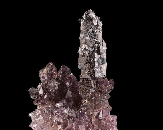 Amethyst with Goethite / Hematite - Rubeho Mountains, Kilosa District, Morogoro Region, Tanzania