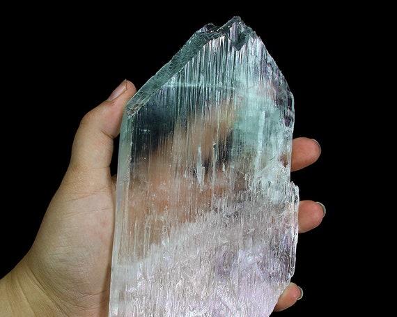 "Spodumene /(var: ""Kunzite"")(doubly-terminated,""floater"" bi-color twinned crystal)/ Locality - Mawi pegmatite, Nuristan Province, Afghanistan"