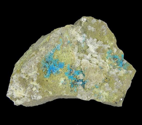 Augelite with Chalcanthite / Locality - Machacamarca Mine, Colavi, Saavedra Province, Potosi Department, Bolivia