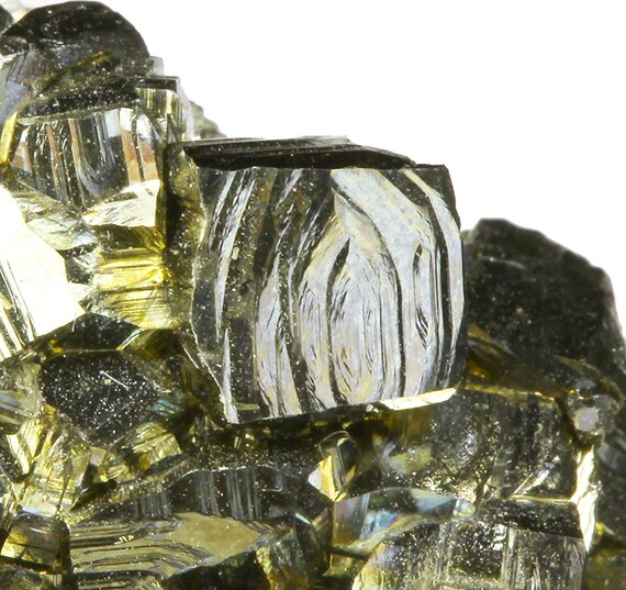 Pyrite / (Cathedral Gothic faces) / Locality - #3 Ore Body, 1250' Level, Black Cloud Mine, Iowa Gulch, Leadville, Lake County, Colorado