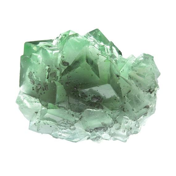 "Fluorite (GEM/gemmy ""phantom"" crystal group) / Locality - Xianghualing Mine, Chenzhou Prefecture, Hunan Province, China"
