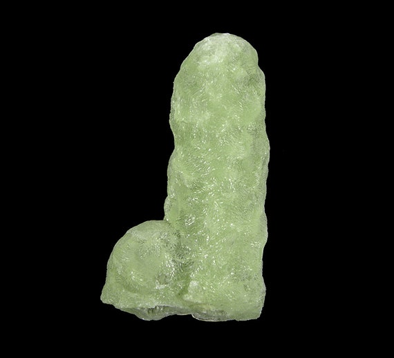 Prehnite finger cast after Anhydrite / Locality - Prospect Park Quarry, Prospect Park, Passaic County, New Jersey