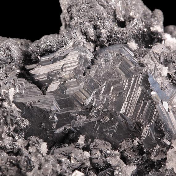 Polybasite (pseudomorph after Acanthite) / Proaño Mine, Fresnillo, Fresnillo Municipality, Zacatecas, Mexico