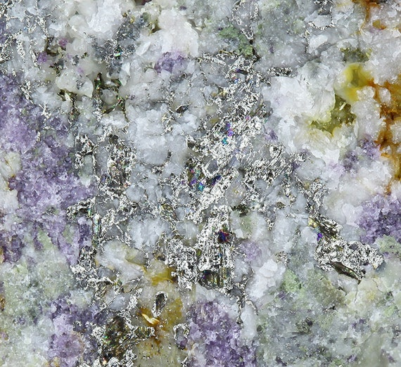 Calaverite and Fluorite /  Locality - Mary McKinney Mine, Anaconda, Cripple Creek District, Teller County, Colorado