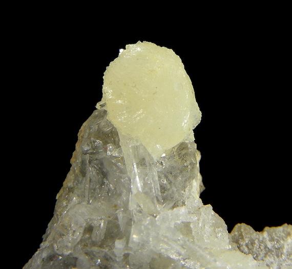 Wavellite with Quartz / Locality - Siglo XX Mine (Siglo Veinte Mine), Llallagua, Bustillo Province, Potosi Department, Bolivia