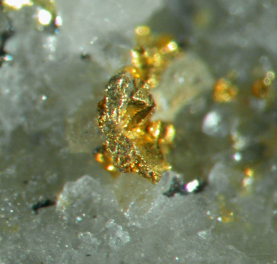 Gold in Quartz / Locality - Sunnyside Mine, near Gladstone, Eureka District, San Juan County, Colorado