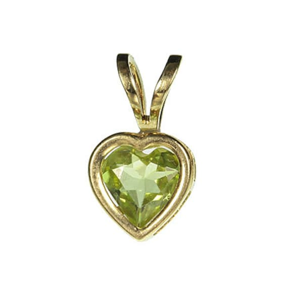 Peridot Pendant in 14kt Yellow Gold