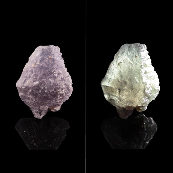 """Sapphire / """"Alexandrite""""-type color-change / (doubly-terminated) - Hinthar-taung, Wet-loo, Mandalay Region, Myanmar"""