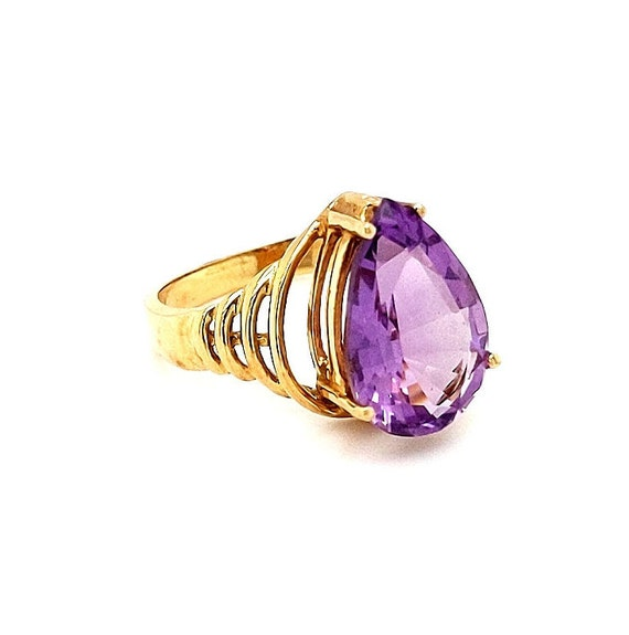 Amethyst Ring in 10kt Yellow Gold