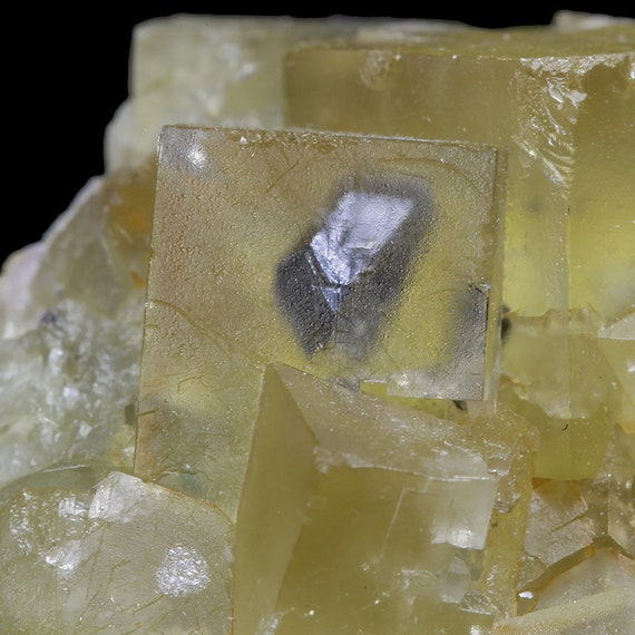 Fluorite with Galena inclusions / Locality- Chebka sidi Said, Midelt, Khenifra Province, Meknes-Tafilalet Region, Morocco