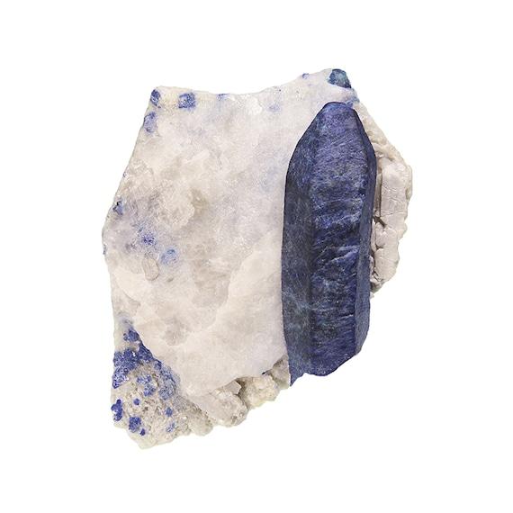 Afghanite (large crystal) / Locality - Ladjuar Medam, (Lapis-lazuli Mine), Afghanistan (TYPE LOCALITY)