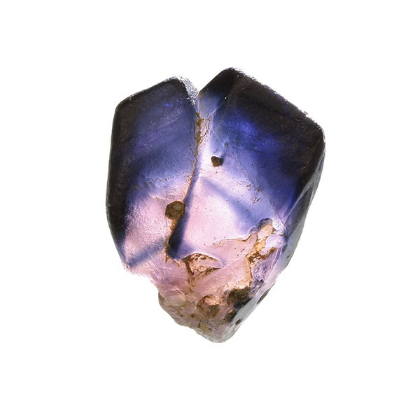 "Corundum / (variety - ""Sapphire"") / (Bicolor Twin) / Locality - Okampitiya, Uva Province, Sri Lanka"