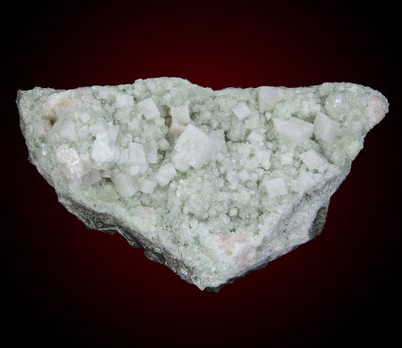 Chabazite on Prehnite / Locality - Upper New Street Quarry, Paterson, Passaic County, New Jersey