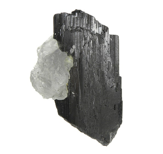 Hubnerite with Fluorite (rare locality specimen)  Locality: Himalaya Mine, Mt Illimani, Murillo Province, La Paz Department, Bolivia