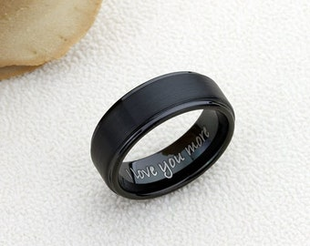 Personalized ring for men • Father's day gift • Valentines day gift • Gift for Husband • Anniversary gift for men • Gift for boyfriend