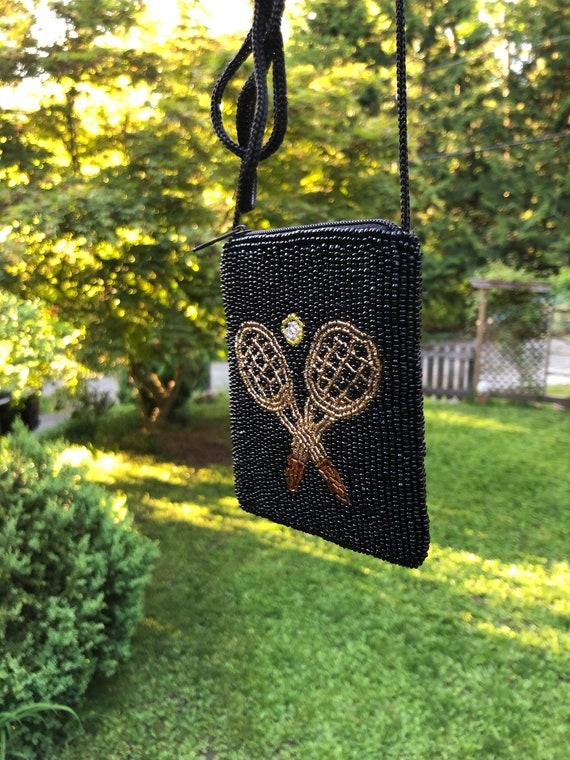 Vintage Handmade Small Beaded Purse NecklaceBohoTribal