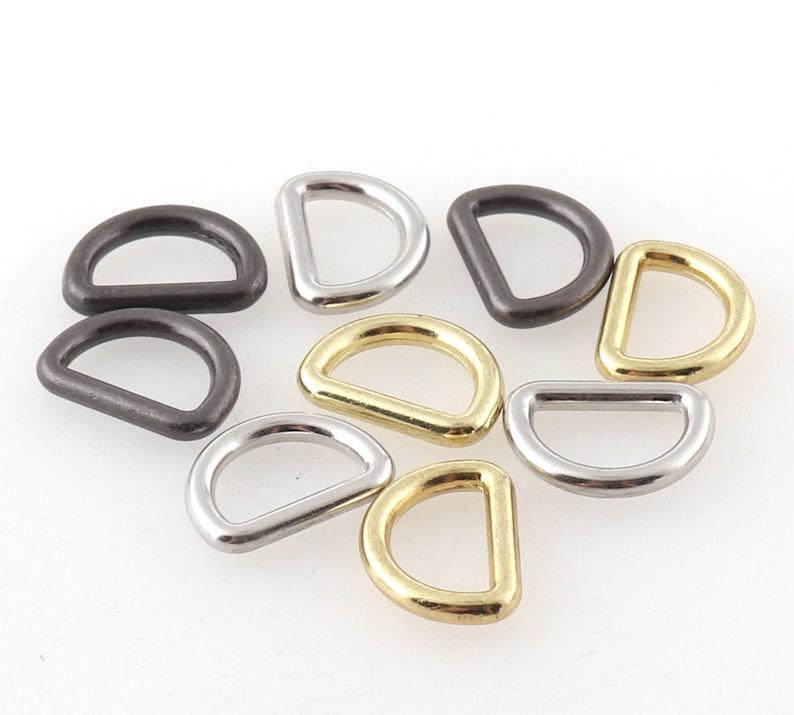 Small Black,Gold,Silver D Ring Buckle Purse Strap Metal Black D Shape Rings Handbags Bag Making Supplies