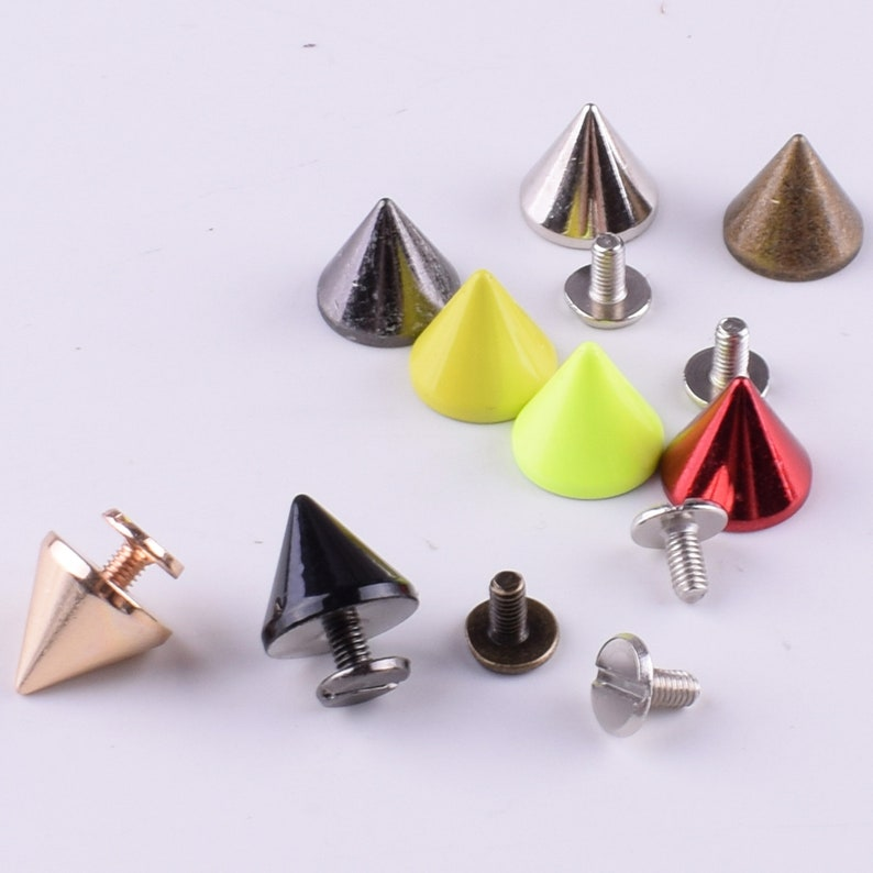 Craft Supplies DIY Wholesale Cone Rivets Screw Punk Studs Leather Crafts Bullet Spikes Rivets 12mm