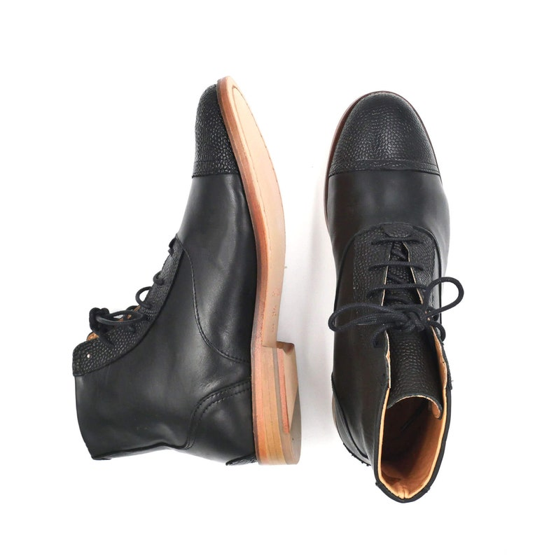 History of Victorian Boots & Shoes for Women     Women Swing Dance Shoes in Black $218.19 AT vintagedancer.com