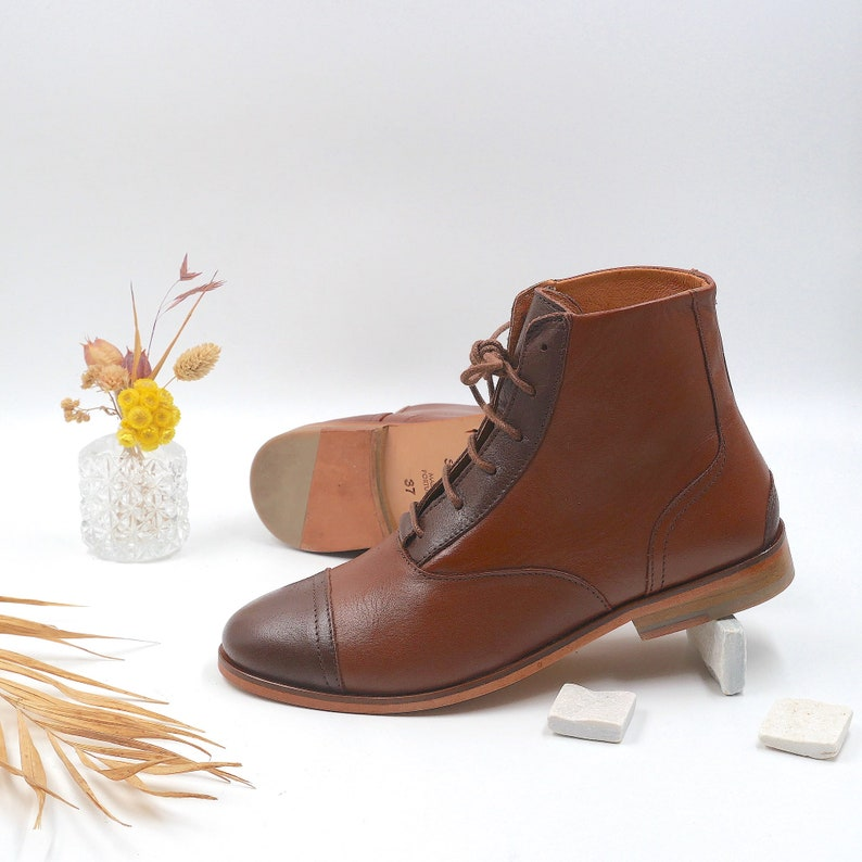 1930s Shoes – Art Deco Shoes, Heels, Boots, Sandals Women Swing Dance Shoes in Brown Swivels $222.65 AT vintagedancer.com