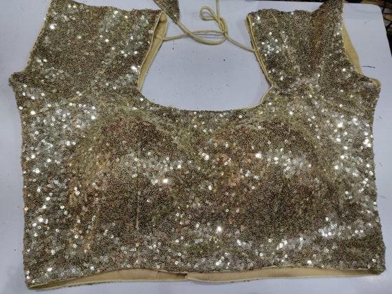 Party Wear NB 160 Golden Designer Art Silk Readymade Blouse Embroidered Choli Saree New Top Sari Wedding Wear