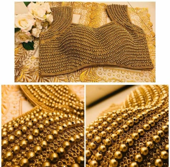 Heavy SILVER Readymade Wedding Party Wear Fully Zircon /& Bugle Work Blouse Choli Stitched Top Saree Marriage Tunic Sari for Women