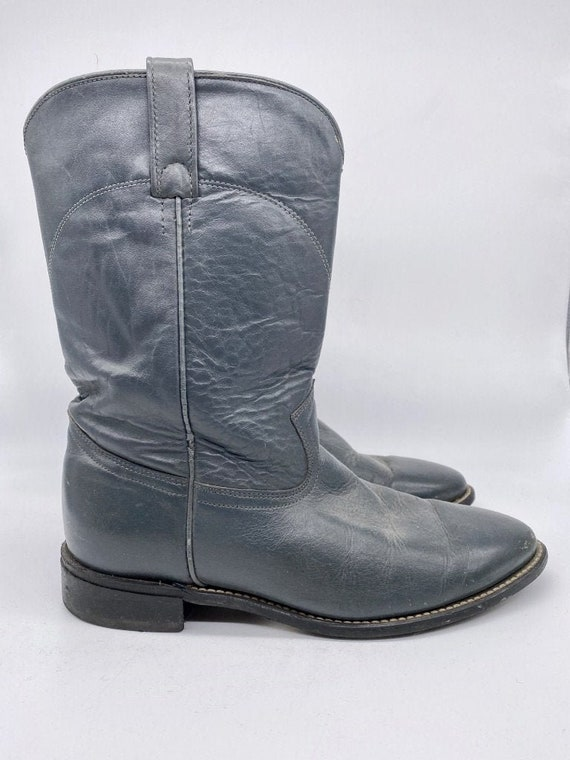 Navy Blue Roper Boots 1980s - image 1