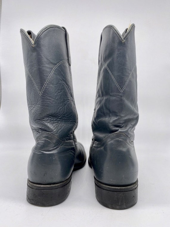 Navy Blue Roper Boots 1980s - image 4