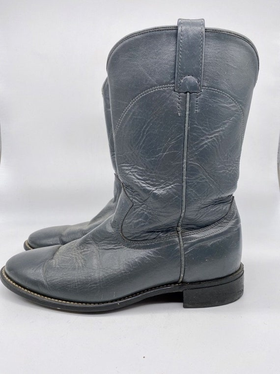 Navy Blue Roper Boots 1980s - image 3