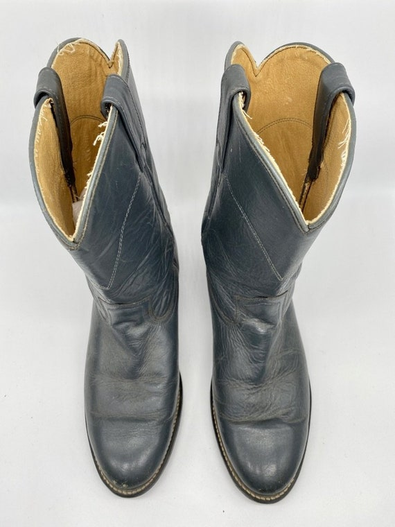 Navy Blue Roper Boots 1980s - image 2