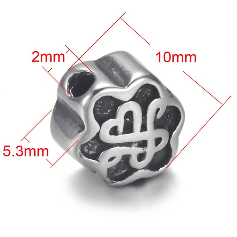 4Pcs Stainless Steel 2mm Bead Spacer for Beaded Bracelet Jewelry Making DIY Small Hole Spacer Charms Accessories Supplies