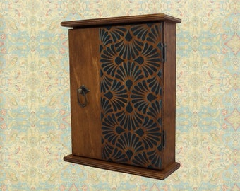 Wooden key cabinet - Key holder for wall