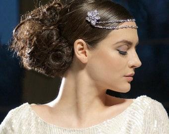 Beautiful luxury gatsby style headpiece, bridal accessories, bridesmaid hair, bridal headpiece, 1920's